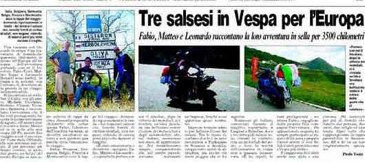 Tre salsesi in Vespa per l'Europa - Mr Paloma