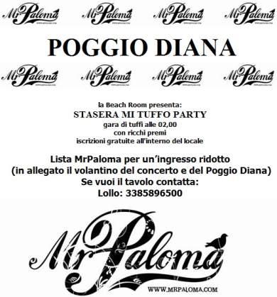 Sabato 28 Giugno al Poggio Diana - Mr Paloma