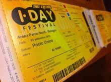 Green Day iDay Festival Bologna 2012