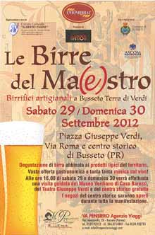 Le birre del maestro 29 Settembre 2012