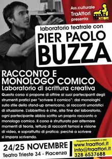 Pier Paolo Buzza laboratorio teatrale