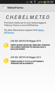 Meteo Parma App Android Nuova Versione