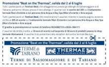Promozione Beat on the Thermae valida dal 2 al 6 luglio 2014