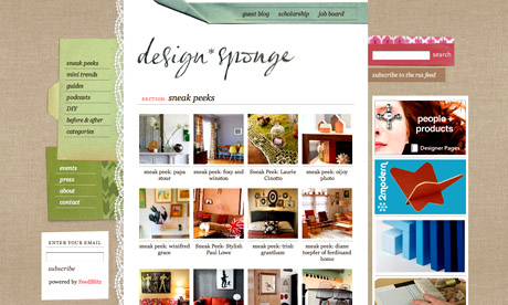 Design Sponge: Sneak Peeks