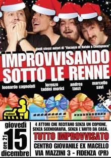 Improvvisazione teatrale Fidenza Giovedi 15 Dicembre 2011