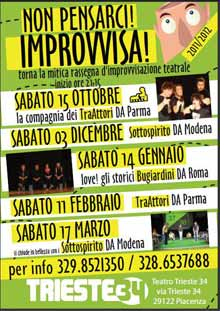 Non pensarci improvvisa Trieste 34 Sabato 11 Febbraio 2012