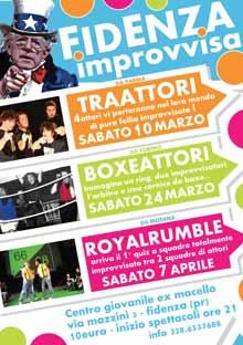 Fidenza Improvvisa rassegna teatrale Marzo Aprile 2012