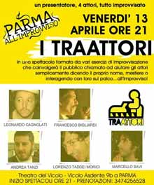 Improvvisazione teatrale Parma Venerdi 13 Aprile 2012