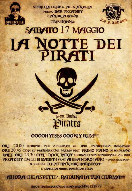 La notte dei pirati!!