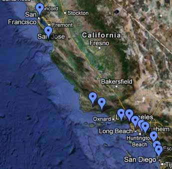 California 2011 percorso