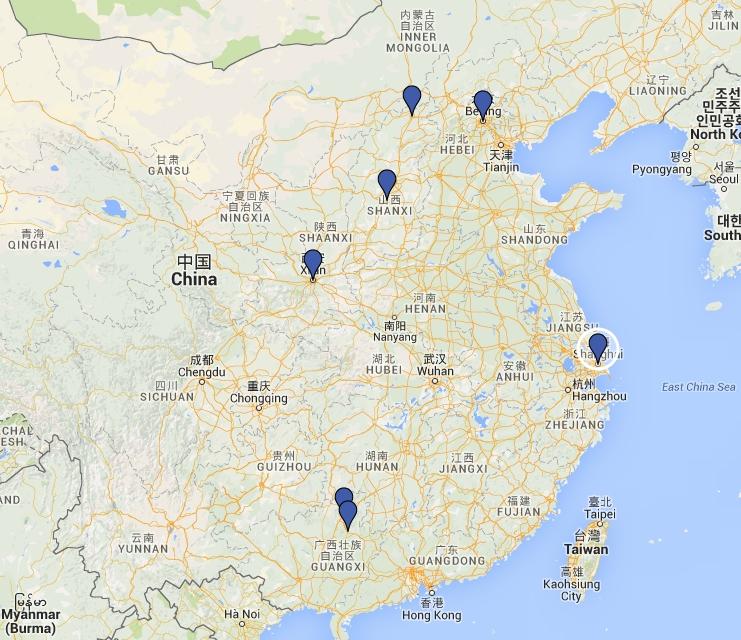 Cina 2015 percorso