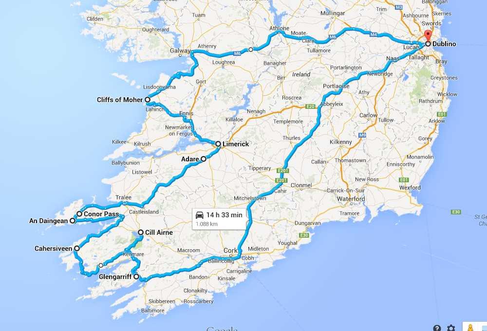 Irlanda 2014 percorso